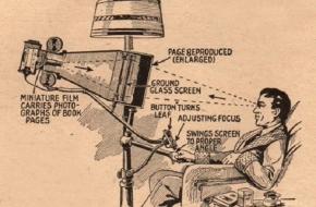 Първият електронен четец за книги е проектиран през 1935 година